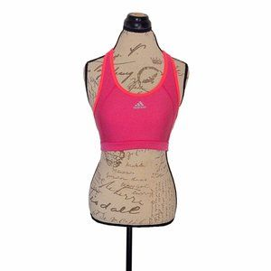 Adidas Size Large Womens Top Crop Techfit Pink Act
